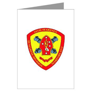 10MR - M01 - 02 - 10th Marine Regiment Greeting Cards (Pk of 10)