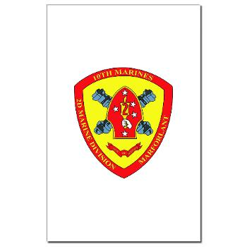 10MR - M01 - 02 - 10th Marine Regiment Mini Poster Print