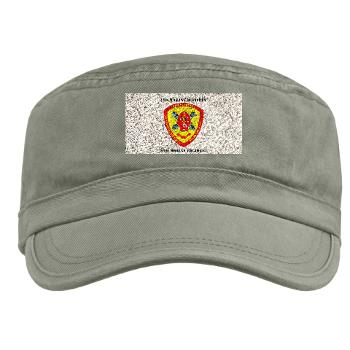 10MR - A01 - 01 - 10th Marine Regiment with Text Military Cap
