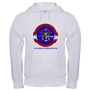 11MEU - A01 - 03 - 11th Marine Expeditionary Unit with Text Hooded Sweatshirt