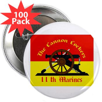 "11MR - M01 - 01 - 11th Marine Regiment - 2.25"" Button (100 pack)"