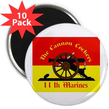 "11MR - M01 - 01 - 11th Marine Regiment - 2.25"" Magnet (10 pack)"