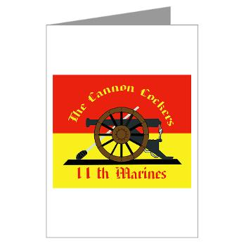 11MR - M01 - 02 - 11th Marine Regiment - Greeting Cards (Pk of 20)