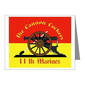 11MR - M01 - 02 - 11th Marine Regiment - Note Cards (Pk of 20)