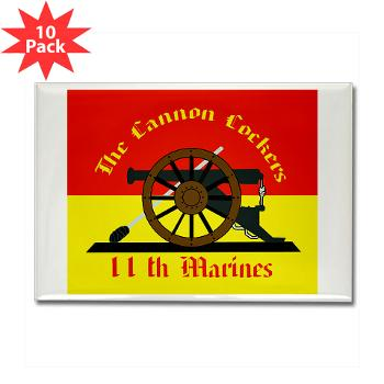 11MR - M01 - 01 - 11th Marine Regiment - Rectangle Magnet (10 pack)