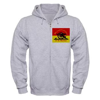 11MR - A01 - 03 - 11th Marine Regiment - Zip Hoodie