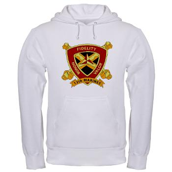 12MR - A01 - 03 - 12th Marine Regiment Hooded Sweatshirt - Click Image to Close