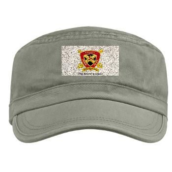 12MR - A01 - 01 - 12th Marine Regiment with text Military Cap