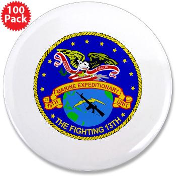 "13MEU - M01 - 01 - 13th Marine Expeditionary Unit - 3.5"" Button (100 pack)"