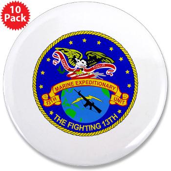 "13MEU - M01 - 01 - 13th Marine Expeditionary Unit - 3.5"" Button (10 pack)"