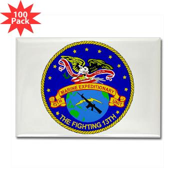 13MEU - M01 - 01 - 13th Marine Expeditionary Unit - Rectangle Magnet (100 pack)