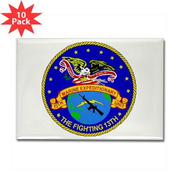 13MEU - M01 - 01 - 13th Marine Expeditionary Unit - Rectangle Magnet (10 pack)