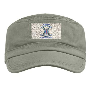 1B11M - A01 - 01 - 1st Battalion 11th Marines with Text Military Cap