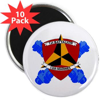 "1B12M - M01 - 01 - 1st Battalion 12th Marines 2.25"" Magnet (10 pack)"