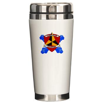 1B12M - M01 - 03 - 1st Battalion 12th Marines Ceramic Travel Mug