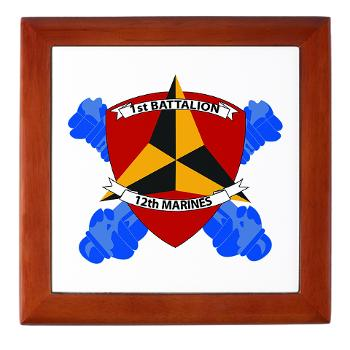 1B12M - M01 - 03 - 1st Battalion 12th Marines Keepsake Box