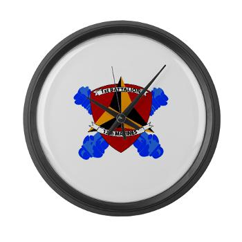 1B12M - M01 - 03 - 1st Battalion 12th Marines Large Wall Clock