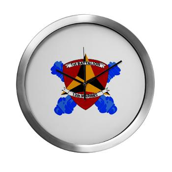 1B12M - M01 - 03 - 1st Battalion 12th Marines Modern Wall Clock