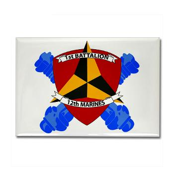 1B12M - M01 - 01 - 1st Battalion 12th Marines Rectangle Magnet (10 pack)