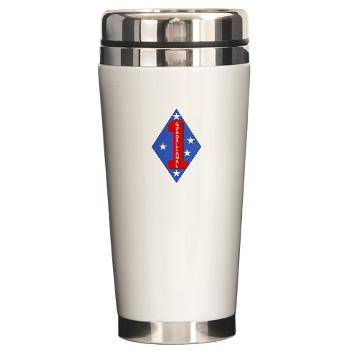 1B1M - M01 - 03 - 1st Battalion - 1st Marines Ceramic Travel Mug