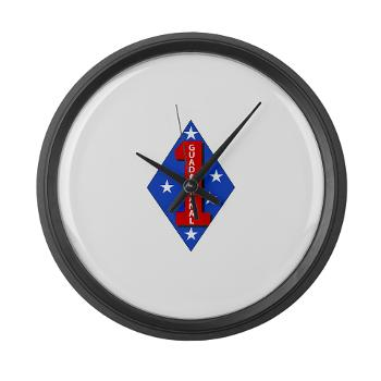1B1M - M01 - 03 - 1st Battalion - 1st Marines Large Wall Clock