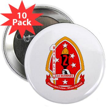"1B2M - M01 - 01 - 1st Battalion - 2nd Marines - 2.25"" Button (10 pack)"