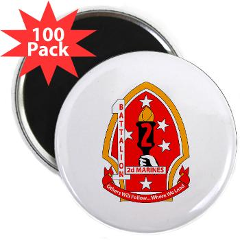 "1B2M - M01 - 01 - 1st Battalion - 2nd Marines - 2.25"" Magnet (100 pack)"