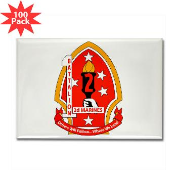 1B2M - M01 - 01 - 1st Battalion - 2nd Marines - Rectangle Magnet (100 pack)