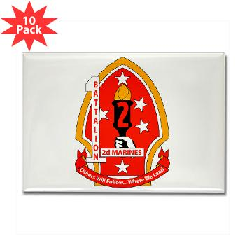 1B2M - M01 - 01 - 1st Battalion - 2nd Marines - Rectangle Magnet (10 pack)