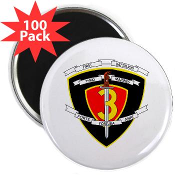 "1B3M - M01 - 01 - 1st Battalion 3rd Marines 2.25"" Magnet (100 pack)"