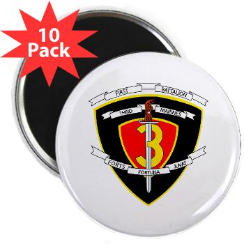 "1B3M - M01 - 01 - 1st Battalion 3rd Marines 2.25"" Magnet (10 pack)"