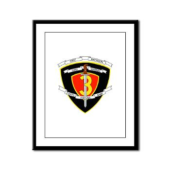 1B3M - M01 - 02 - 1st Battalion 3rd Marines Framed Panel Print