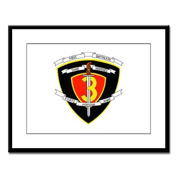 1B3M - M01 - 02 - 1st Battalion 3rd Marines Large Framed Print