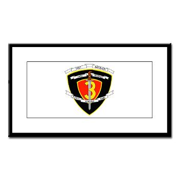 1B3M - M01 - 02 - 1st Battalion 3rd Marines Small Framed Print