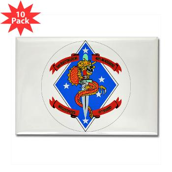 1B4M - M01 - 01 - 1st Battalion 4th Marines - Rectangle Magnet (10 pack)