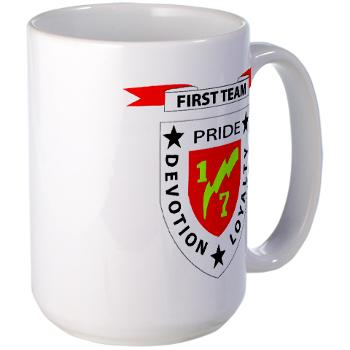 1B7M - M01 - 03 - 1st Battalion 7th Marines Large Mug