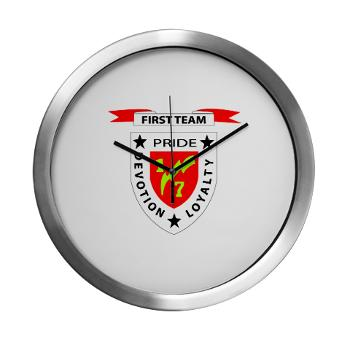 1B7M - M01 - 03 - 1st Battalion 7th Marines Modern Wall Clock