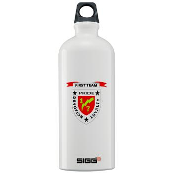 1B7M - M01 - 03 - 1st Battalion 7th Marines Sigg Water Bottle 1.0L