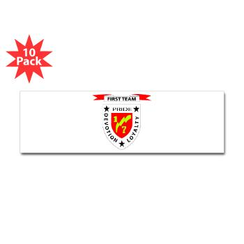 1B7M - M01 - 01 - 1st Battalion 7th Marines Sticker (Bumper 10 pk)