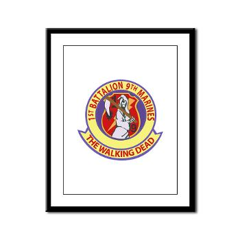 1B9M - M01 - 02 - 1st Battalion - 9th Marines - Framed Panel Print