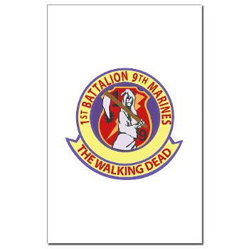 1B9M - M01 - 02 - 1st Battalion - 9th Marines - Mini Poster Print