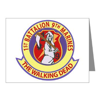 1B9M - M01 - 02 - 1st Battalion - 9th Marines - Note Cards (Pk of 20)