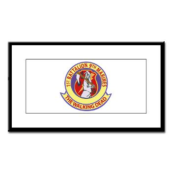 1B9M - M01 - 02 - 1st Battalion - 9th Marines - Small Framed Print