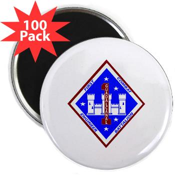 "1CEB - M01 - 01 - 1st Combat Engineer Battalion - 2.25"" Magnet (100 pack)"