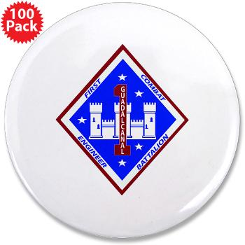 "1CEB - M01 - 01 - 1st Combat Engineer Battalion - 3.5"" Button (100 pack)"