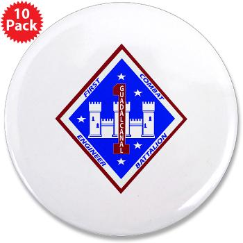 "1CEB - M01 - 01 - 1st Combat Engineer Battalion - 3.5"" Button (10 pack)"
