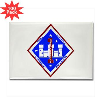 1CEB - M01 - 01 - 1st Combat Engineer Battalion - Rectangle Magnet (100 pack)