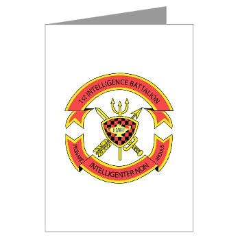 1IB - M01 - 02 - 1st Intelligence Battalion - Greeting Cards (Pk of 10)