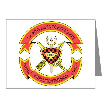 1IB - M01 - 02 - 1st Intelligence Battalion - Note Cards (Pk of 20)