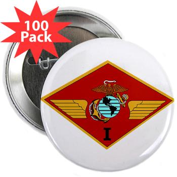 "1MAW - M01 - 01 - 1st Marine Aircraft Wing with Text - 2.25"" Button (100 pack)"